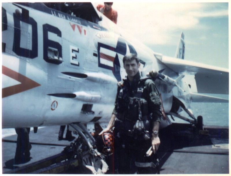Terry while flying with VF-24 in 1973.