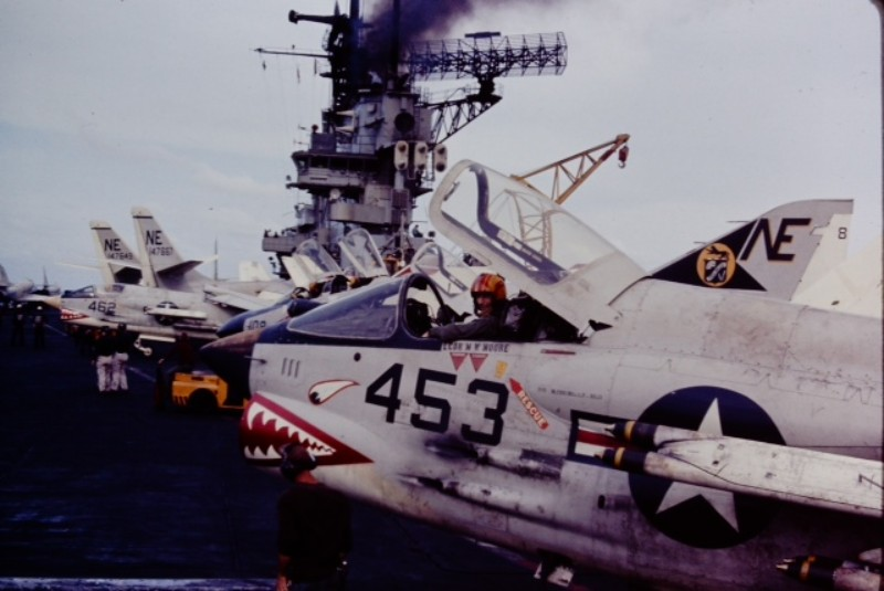 Terry ready to go, VF-111 on board USS Midway.