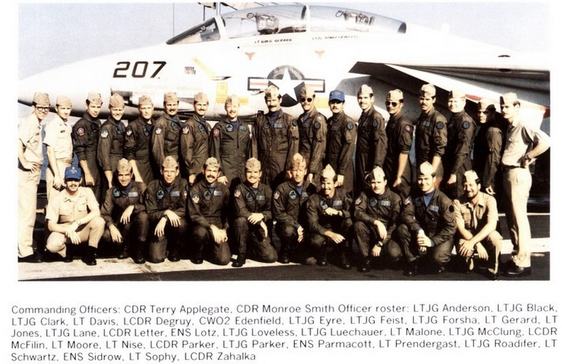 Terry as CO of VF-213 flying the Tomcat